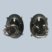 Vintage Whiting & Davis Hematite Clip Earrings