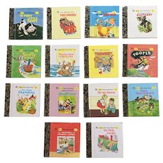 Miniature Little Little Golden Books Number 1-14 Book Set