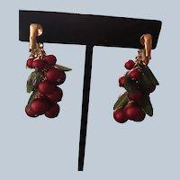 Avon Happy Holly Christmas Pierced Earrings