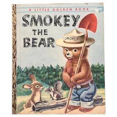 HTF 1955 Smokey The Bear Little Golden Book B Edition
