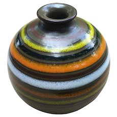 1960's Modern Aldo Londi Bitossi Italy Rosenthal Netter Art Pottery Globe Vase Book Piece