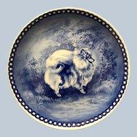 Retired Vintage Danish Porcelain Pomeranian Decorative Plate