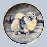 Quality Vintage Pomeranian Porcelain Denmark Plate
