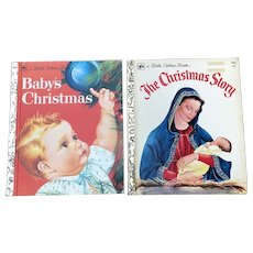 Vintage Eloise Wilkin Baby's Christmas and The Christmas Story Little Golden Books