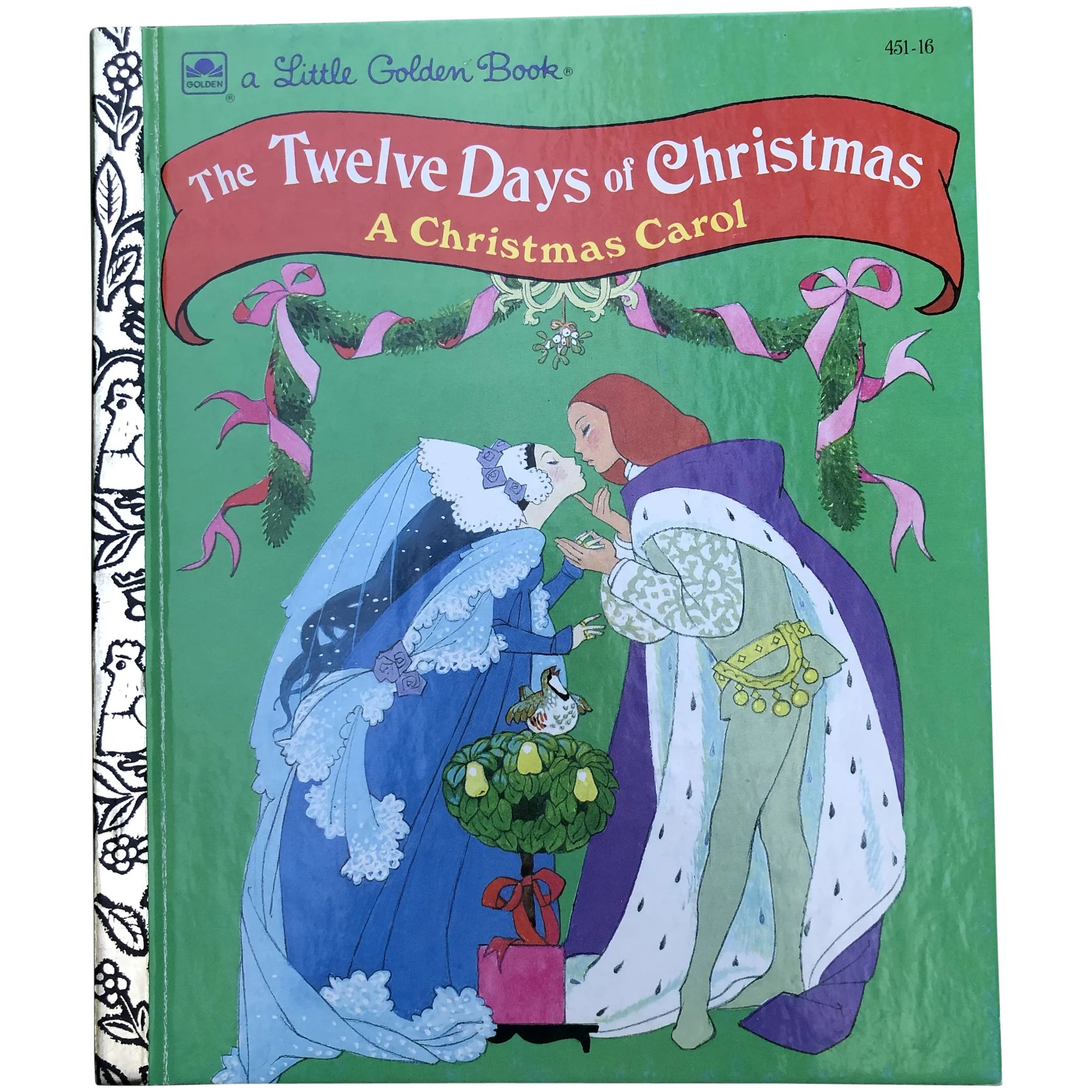 Twelve Days Of Christmas Book.1992 First Edition The Twelve Days Of Christmas Little Golden Book