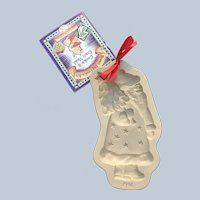 Retired 1996 Kris Kringle Brown Bag Cookie Art Mold
