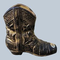 Rubens Original Ceramic Western Cowboy Boot Planter