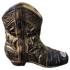 Rubens Original Ceramic Western Cowboy Boot Planter