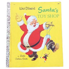 1969 Walt Disney's Santa Toy Shop Little Golden Book Numbered D16
