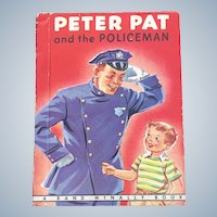 1948 Peter Pat And The Policeman First Edition Rand Mcnally Children Book