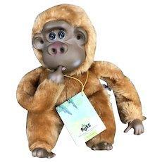 1980's Russ Rutherford III Plush Thumb Sucking Gorilla Monkey
