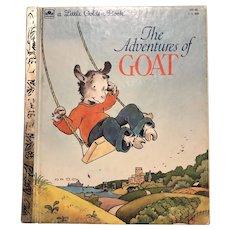 Vintage 1984 The Adventures Of Goat Little Golden Book