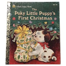 1993 First Edition The Poky Little Puppy's First Christmas Little Golden Book