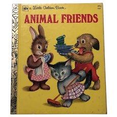 1953 Animal Friends Little Golden Book