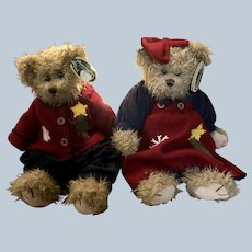 Bearington Christmas Bears Grant and Gracie Set