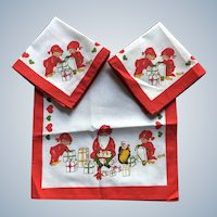 Decora New With Tags Sweden Christmas Gnome Runner and Napkin Set