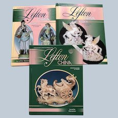 1990's Hardcover Lefton China Reference Price Guide Set Of 1, 2, And 3 Collector Books