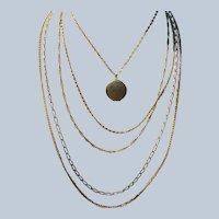 Vintage Gold Tone Signed Citation Locket Necklace