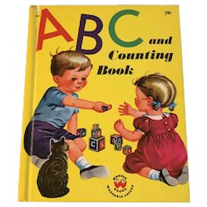 Vintage 1946 Children Wonder Book First Edition ABC and Counting Book