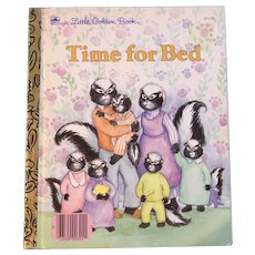 1989 First Edition Little Golden Book Time For Bed Joan Goodman