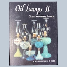 Hardcover 1983 Oil Lamps 2 Glass Kerosene Lamps Reference and Price Guide