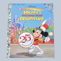 Vintage 1997 Special Collectible Edition Mickey's Walt Disney World Adventure Little Golden Book