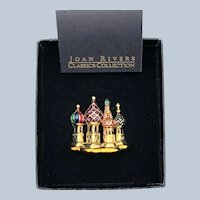 Vintage New In Box Joan Rivers Classic Collection St Basil's Russian Cathedral of Vasily the Blessed Brooch Pin.