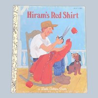 HTF 1981 Hiram's Red Shirt Little Golden Book First Edition