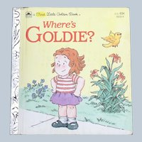HTF 1983 Where's Goldie A First Little Golden Book First Edition