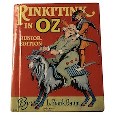 1939 First Edition Rinkitink In Oz Junior Edition Rand McnNally By Frank Baum