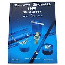 Vintage 1990 Hardcover Bennett Brothers Blue Book Catalog of Quality Merchandise