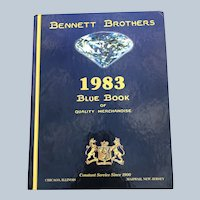 Vintage Hardcover 1983 Bennett Brothers Blue Book Of Quality Merchandise Catalog