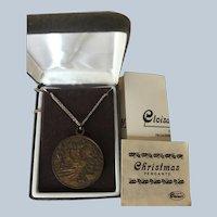 Vintage Cloisart Bronze Christmas Pendant