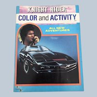 1984 Knight Rider Color And Activity Unused Paperback Book