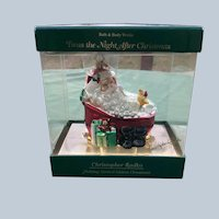 Retired Large Christopher Radko Twas The Night After Christmas Ornament Limited Edition New In Box