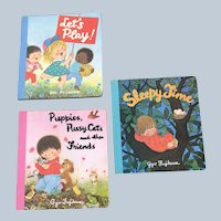 1989 Illustrator Gyo Fujikawa  Board Book Set Of Three