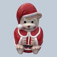 Vintage Artmark Ceramic Christmas Teddy Bear Bank