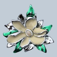 Vintage Danecraft Enamel Flower Pin