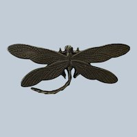 Vintage Bronze Dragonfly Pin