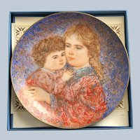 1985 The Edna Hibel Erica And Jamie Mothers Day Plate