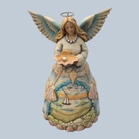 Retired Jim Shore Enesco Heartwood Creek Safekeeper Of The Seas And Seashore Angel Figurine