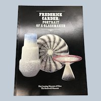 1985 Frederick Carder Portrait Of A Glassmaker Corning Museum Of Glass Book
