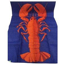 Vintage NOS Retro Colorful Ireland Ulster Weavers Linen Lobster Towel