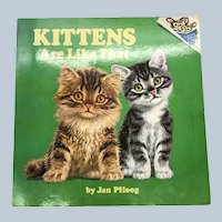 1976 Kittens Are Like That Please Read To Me Random House Children Book