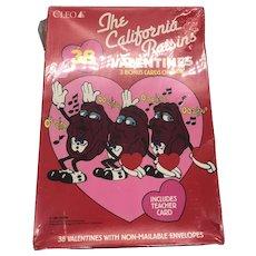1988 NOS Cleo The California Raisins Valentine Set