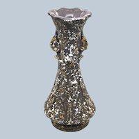 MCM 1950's Gray Gold White Speckled Pottery Vase