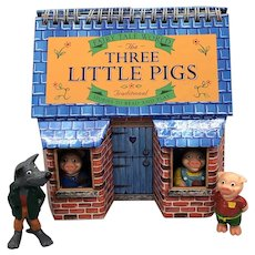 1997 Fairytale World The Three Little Pigs With Action Figures and House