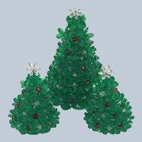 1980's Yuletide Handmade Beadery Christmas Tree Set Complete