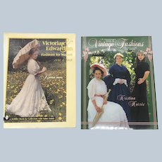 Krisitina Harris Victorian Edwardian Fashions And Vintage Fashions Collectors Price Guide Set