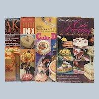 Vintage 1977 To 1981 Wilton Yearbook Cake Decorating Magazine Set